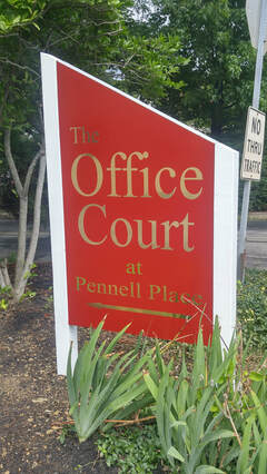 Office Court post sign